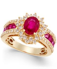 Ruby (2-1/3 ct. t.w.) and Diamond (3/4 ct. t.w.) Ring in 14k Gold