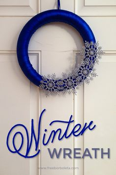 Create you own winter wreath snowflake!