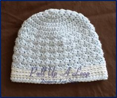 My Sedge Stitch Newborn Baby Beanie is a quick and easy pattern to learn. The pattern is written in newborn sizing, but can easily be adjusted to fit anyone from baby to adult. I suggest using a DK weight yarn, but if you choose, you may also use a worsted weight yarn as well.