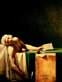 The Death of Marat by Jacques-Louis David (1748-1825)