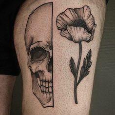 Skull tattoo #713club #blackwork #blacktattoo #blackink #dotwork #linework…