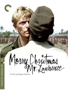 Great poster design for Merry Christmas Mr. Lawrence (1983), directed by Nagisa Oshima (1932~2013), starring David Bowie, Ryuichi Sakamoto and Takeshi Kitano, Japan.