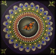 Joyful Emergence Mandala  Original Painting by ArtbyKirstyRussell