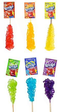 Rock Candy Make your own rock candy using kool-aid! My kids loved this edible science experiment!Make your own rock candy using kool-aid! My kids loved this edible science experiment! Rock Candy Experiment, Candy Experiments, Science Experiments Kids, Science For Kids, Science Fun, Summer Science, Science Crafts, Rock Science, Science Projects For Kids