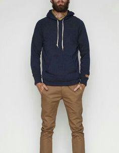 Casual. Men's Fashion.- fall hoodie and khakis