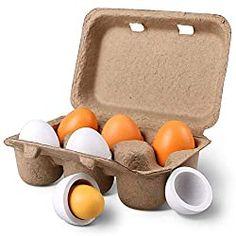 Play Kitchen Food, Kitchen Games, Pretend Play Kitchen, Play Food Set, Diy Montessori Toys, Montessori Infant, Wooden Play Food, Cooking Toys, Egg Toys