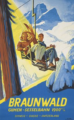 Vintage ski posters up for auction - Telegraph Ski Vintage, Vintage Ski Posters, Vintage Winter, Vintage Art, Old Poster, Retro Poster, Poster Wall, Paris Poster, Poster City