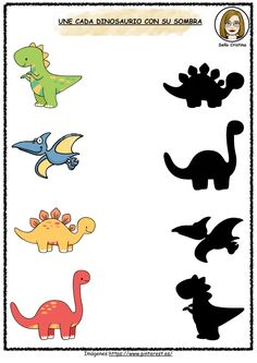 Dinosaur Worksheets, Dinosaur Theme Preschool, Dinosaur Activities, Dinosaur Crafts, Toddler Learning Activities, Craft Activities For Kids, Book Activities, Preschool Activities, Dinosaurs Names And Pictures