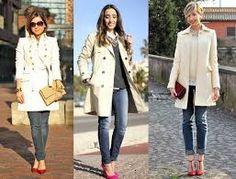 Resultado de imagem para mulheres com blazer longo estampado casual