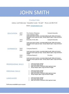 Printable Resume Template Free Printable Resume Template That Can Be Editedinstant