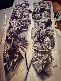 "My Artwork drawing ""Mobsters History"""