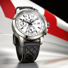 The Ingenieur Chronograph Edition W 125 (Ref. IW380701) takes up the theme of the Mercedes-Benz W 125 Silver Arrow. Back in the late 1930s the racing car designed by Rudolf Uhlenhaut dominated the competition as emphatically as the current version of the Mercedes Silver Arrow heads up motorsports premier competition today. #B_ORIGINAL #74mm #iwcracing by iwcwatches