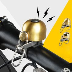Bicycle Bell Bike Accessories Handlebar Stainless Steel+Copper Classic Sound Bicycle Alarm Bicycle Horn Bike Rings 45g #Affiliate
