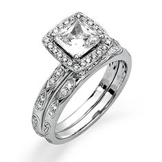 Passion Collection � This gorgeous 18K white engagement ring and band is comprised of .35ctw round white Diamonds. � MR1871