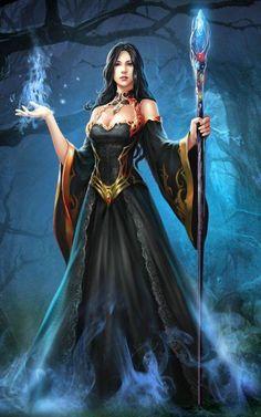 Fantasy art magic wizards necromancer 58 New Ideas Fantasy Girl, Foto Fantasy, Fantasy Wizard, Fantasy Art Women, Fantasy Kunst, Fantasy Warrior, Dark Fantasy Art, Fantasy Artwork, Fantasy Witch