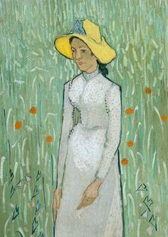 Girl In White Painting by Vincent van Gogh