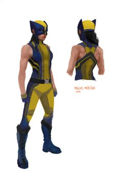 X-23 Wolverine costume concept. Just playing around with some ideas I had, mainly the racerback top.  I like the idea of her costume being sleeveless :)