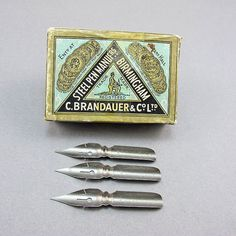Vintage 1930s Collectible Pen Nibs With by Goodoldbeads on Etsy, £7.50