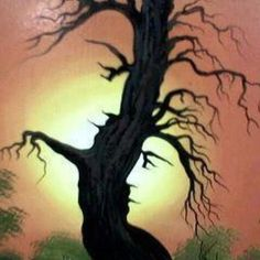 Man and woman tree art. Very cool