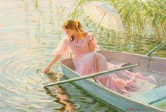 Art by Alexander Nicolajevich Averin Romantic Paintings, Old Paintings, Edward Moran, Bel Art, Alphonse Mucha, Renaissance Art, Art Plastique, Pretty Art, Beautiful Paintings