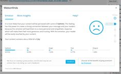 We have written a sad post with little joy! This WordPress Plugin analyzes post emotion with ai powered by IBM Watson.