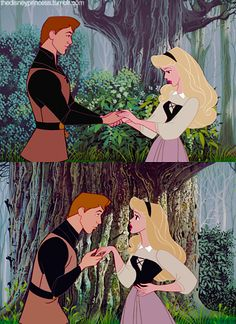 Aurora and Phillip at first sight my favorite Disney movie...