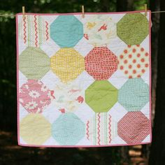 READY TO SHIP  Hullabaloo Snowball Baby Quilt by iguesssew on Etsy, $75.00