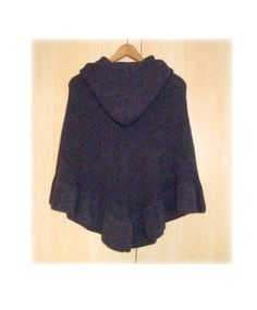 SALE Women Hooded Poncho  Handmade Knit  Original by InkaBoutique, $95.00