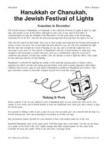 Hanukkah (or Chanukah), the Jewish Festival of Lights