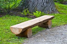 Wooden Benches Add stylish seating and storage to your home with benches handcrafted by American artisans Shop styles Tree Stump Furniture, Log Furniture, Garden Furniture, Ponds Backyard, Backyard Landscaping, Rustic Wooden Bench, Outdoor Fire, Outdoor Decor, Outdoor Furniture Plans