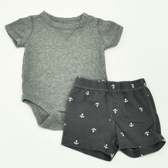 Baby Boy 3-6 mos. Onesie and Shorts- Gently Used- Baby Gap with Carter's- Click to see the whole lot! - vintage clothing, shopping online for clothes, clothes cloths *ad