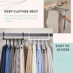 Wardrobe Organisation, Small Closet Organization, Closet Shelves, Closet Storage, Storage Rack, Organizing Wardrobe, Tie Storage, Bedroom Organization