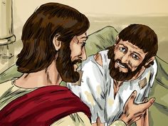 Free Visuals:  Jesus heals a man at the pool of Bethesda  When Jesus heals a man on the Sabbath day it causes controversy. John 5:1-24