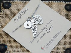 Angel Son Memorial Necklace Loss Of Son by HandmadeByRememberMe