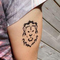 Tatouage temporaire tête de lion Plus