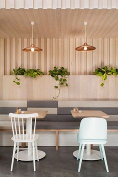 The Kitty Burns restaurant in Melbourne by Biasol Design Studio and TON chairs Ironica inside