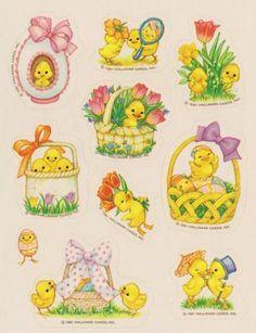 Vintage Easter Sticker sheet by Hallmark