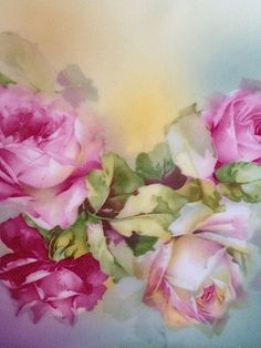 Pink:  #Pink Roses Prussian Plate.