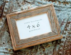 4x6 Reclaimed Barn wood distressed rustic picture frame with inner routered line .... upcycled weathered barnwood on Etsy, $22.00