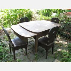 Rustic Farm Table And Chairs now featured on Fab.