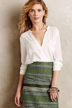 Eva Wrap Blouse + ethnic skirt