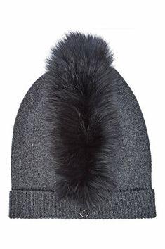 da561426d89 Charlotte Simone Designer Mo Mohawk Cashmere Hat with Fox Fur Charlotte  Simone