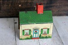 Vintage Metal Christmas House