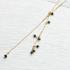 deux l'argent/ブラックダイヤネックレス 33600yen 大人の女性に贈る個性的なジュエリー