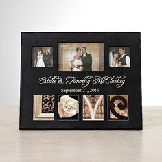 This rich wood frame is not only a place to display your treasured wedding photos, it's also a distinctive piece of art for your home.