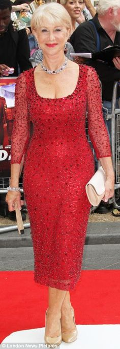Helen Mirren: The dress that can make ANY middle-aged woman look drop-dead gorgeous: Helen Mirren sparkled in it this week. | Mail Online
