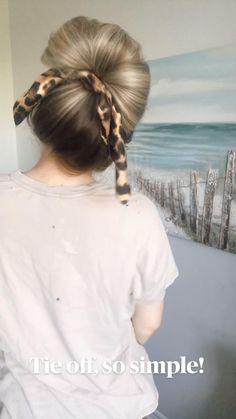 Hairdo For Long Hair, Up Dos For Medium Hair, Easy Hairstyles For Medium Hair, Braids For Short Hair, Protective Hairstyles, Bun Hairstyles Short Hair, Hairstyles For Working Out, Long Hair Easy Updo, Box Braids