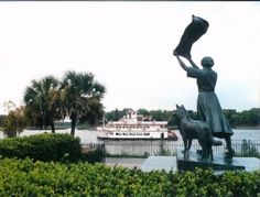 "Florence Martus,""the Waving Girl"", greeted ships that at the Port of Savannah. Georgia, between 1887 and 1931. Legend has it that she waved to attract the attention of a sailor she wanted to reunite with, but he never returned."
