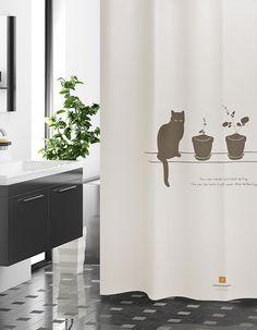 샤워커튼-옥탑방 고양이