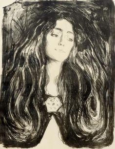 Edvard Munch, The Brooch. Eva Mudocchi, 1903. Koller Auktionen - Moderne Grafik